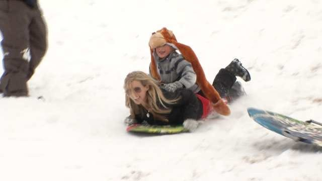 Kids Of All Ages In Tulsa Take Advantage Of Snow Day
