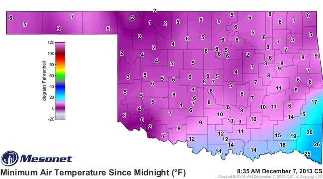 Bitter Cold Temps, Light Winter Precipitation Expected In Green Country