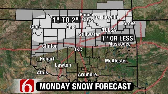 Several Tulsa-Area Schools Cancel Classes For Inclement Weather