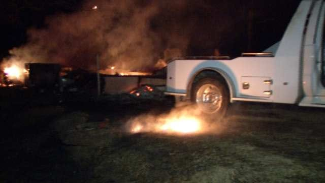 Man Burned In Creek County Mobile Home Fire