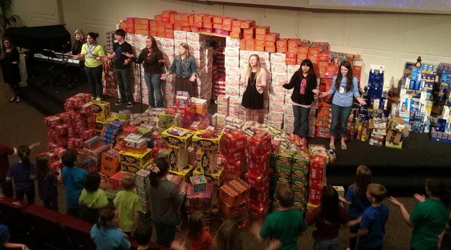Tulsa Students Collect Almost Eight Tons Of Food For Mission