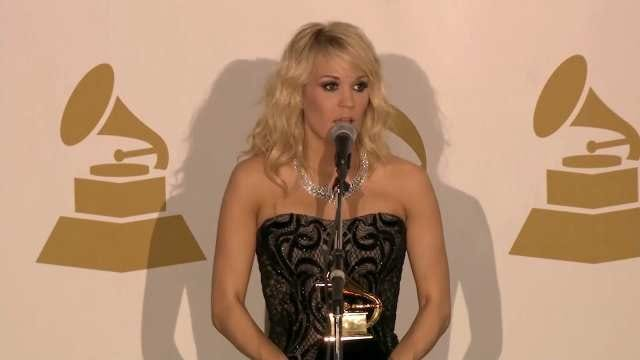 Carrie Underwood Wins Grammy, Her Dress Steals The Show