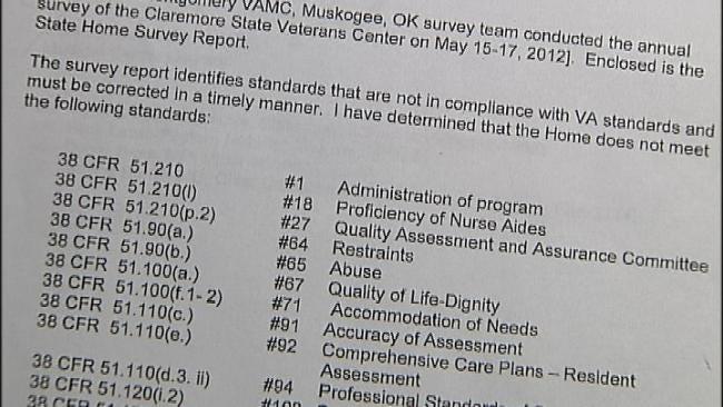 Claremore Veterans Center Nursing Head Resigns