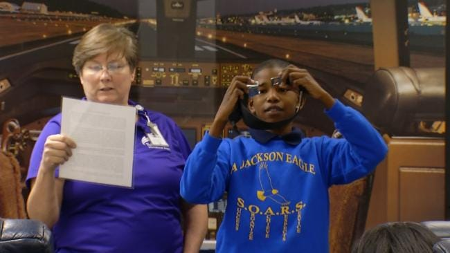 Kids Get Interactive Aviation Lesson At Tulsa International Airport