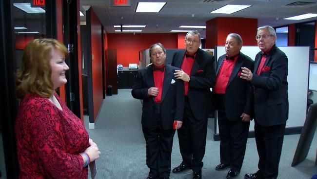 Barbershop Quartet Serenades Red-Faced Tulsans For Valentine's Day