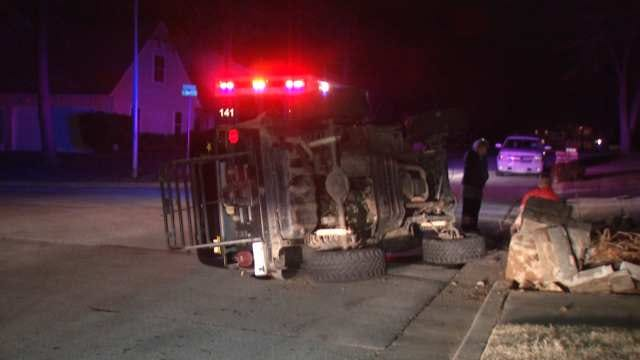 Man Rolls Jeep, Gets Ticket For Inattentive Driving In Tulsa