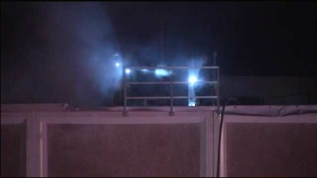 Tulsa Firefighters Battle Fire On Roof Of Bama Frozen Dough Facility