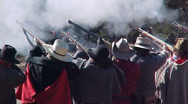 Battle Of Round Mountain Reenacted In Yale