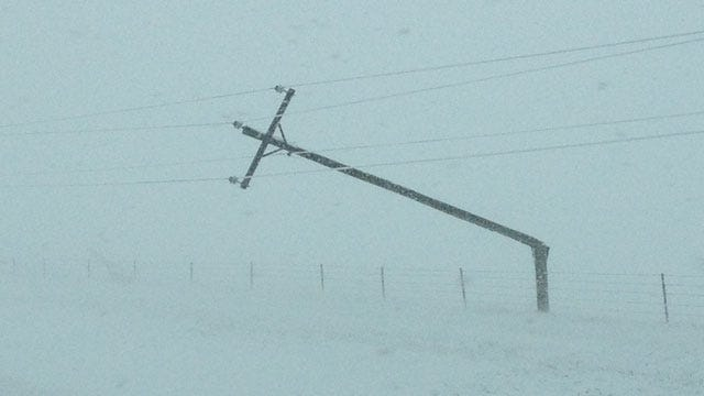 Thousands Without Power As Winter Storm Crosses Oklahoma
