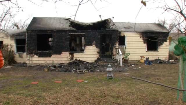 Two Injured In North Tulsa House Fire