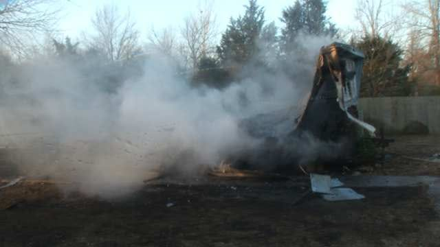 Catoosa Mobile Home Burns To Ground