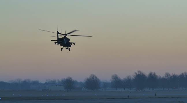 Attack Helicopters Become Common Sight Over Oklahoma