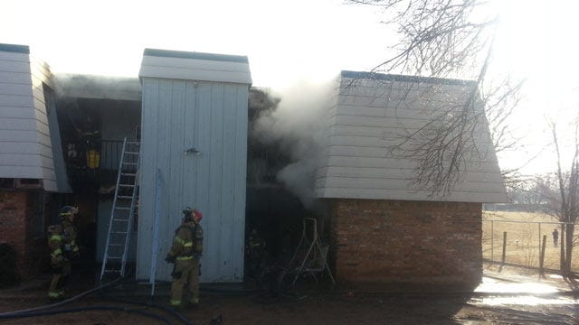 Firefighters Battle East Tulsa Apartment Fire