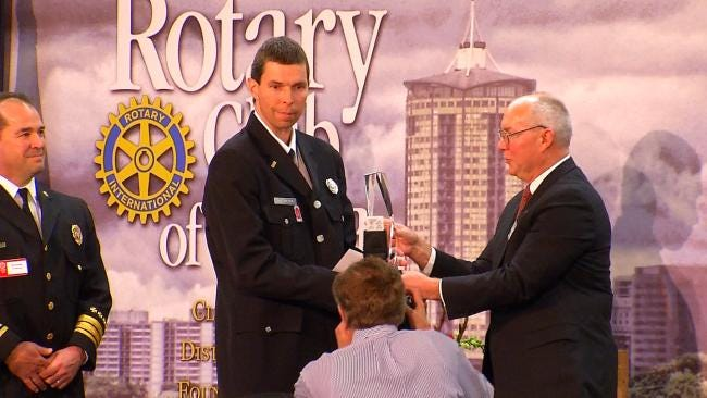 Tulsa Rotary Club Honors Firefighter, 2 Police Officers