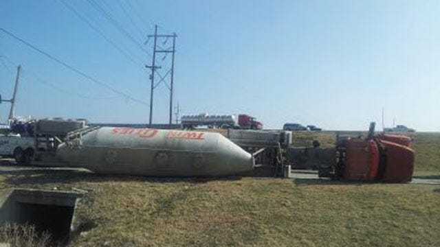 Load Shift Causes Semi To Roll At U.S. 169 And Pine