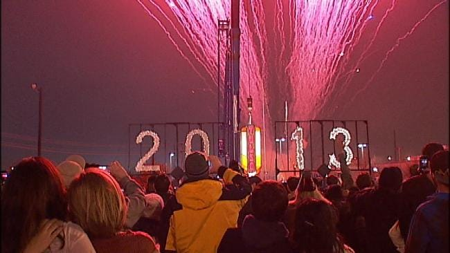 Downtown Tulsa Packed With New Year's Revelers