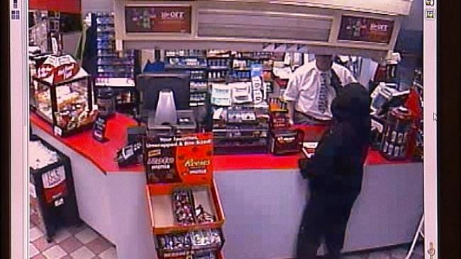 Store Video Records Man Firing Gun During Attempted Robbery In Tulsa