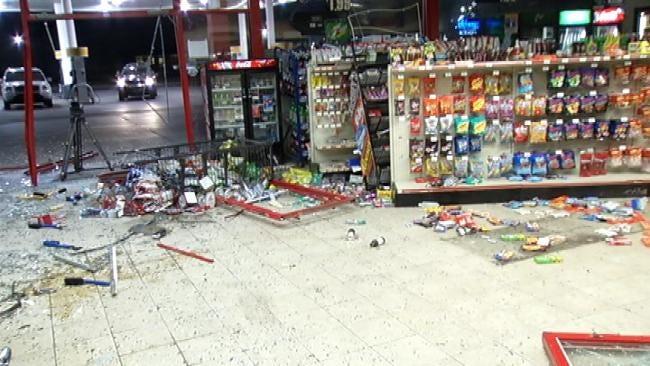 Failed ATM Burglary Destroys Inside Of Tulsa Convenience Store