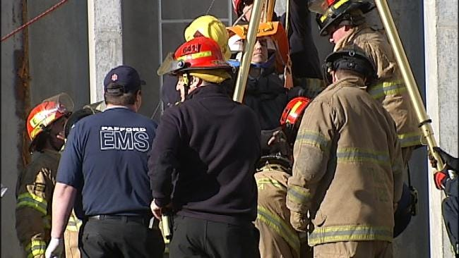 Tulsa Fire Rescues Worker After Falling In A Shaft At Port Of Catoosa