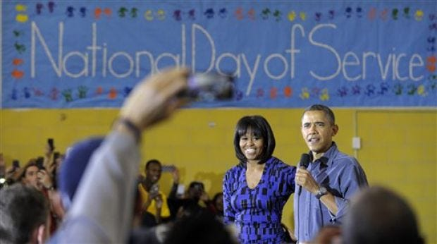 On Second Term Eve, Obama Cites Commitment To Service