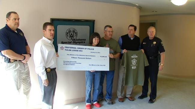 Tulsa Fraternal Order Of Police Donates $15,000 To Special Olympics