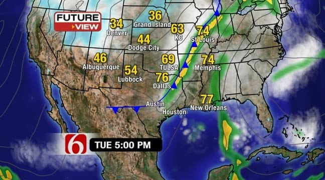 Chance Of Storms Ahead For Green Country