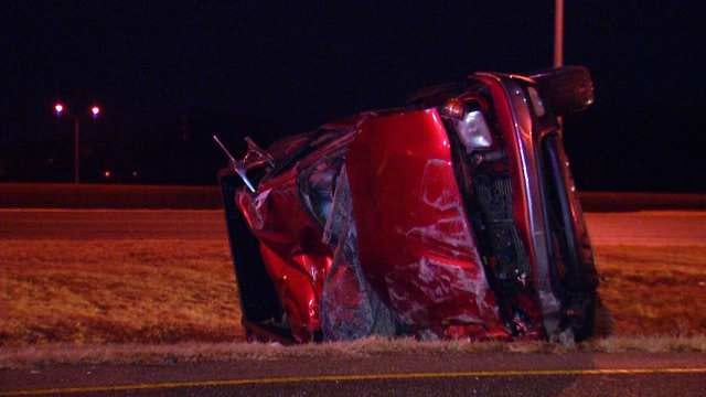 Driver Ejected In Rollover Crash On Tulsa Highway