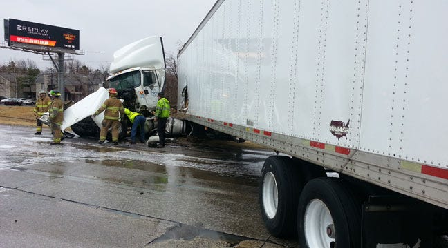 Traffic Alert: Jackknifed Semi Snarls Traffic On Tulsa Highway