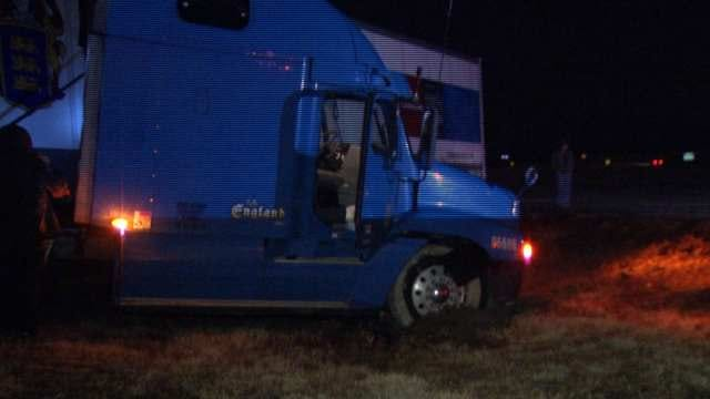 No Injuries When Semi Jackknifes On East Tulsa Interstate