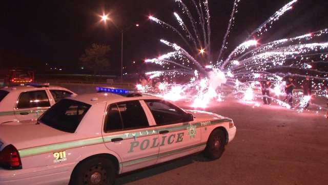 Fireworks Aimed At Tulsa Police, Firefighters