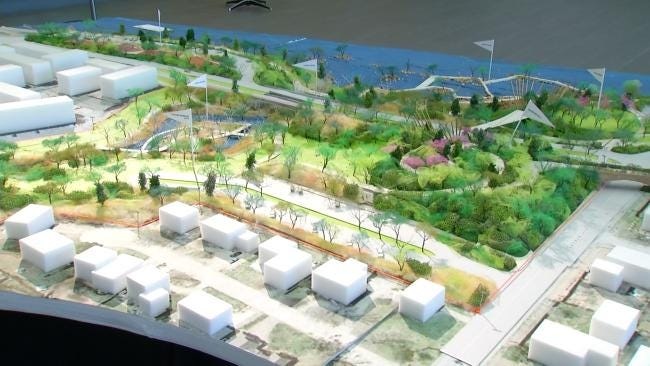 Model Of 'A Gathering Place For Tulsa' Unveiled To The Public