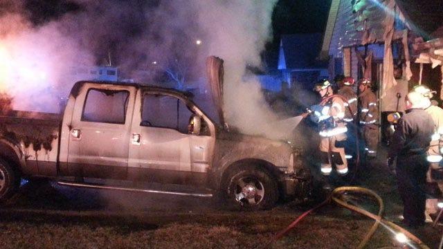 Tulsa Man Not Hurt When Gas Vapors Ignite, Burn Pickup Truck