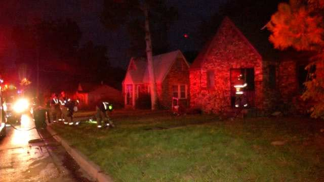 Tulsa Firefighters Stop Flames From Spreading Through Duplex