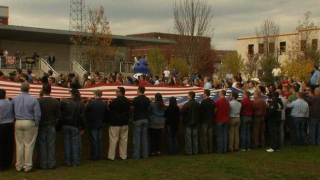 Group Marks Veterans Day With Flag Display At Guthrie Green