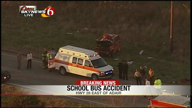 Adair Community Rallies Around 3 Students Injured In Crash With School Bus