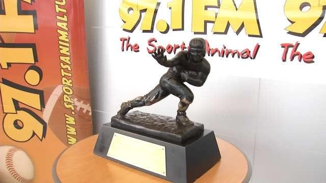 Heisman Trophy Displayed At South Tulsa Car Dealership