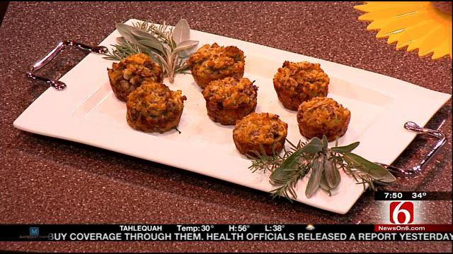 Mushroom And Herb Stuffing Muffins