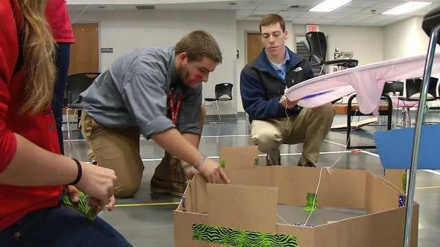 Green Country Engineering Students Compete In 'Hunger Games' Themed Battle