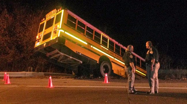 Cleveland Bus Hangs On Bridge After Collision With Alleged DUI Driver