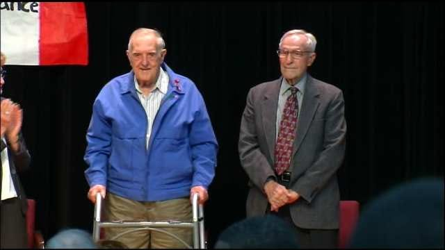 2 Oklahoma WWII Veterans Honored For Their Part In Liberating France