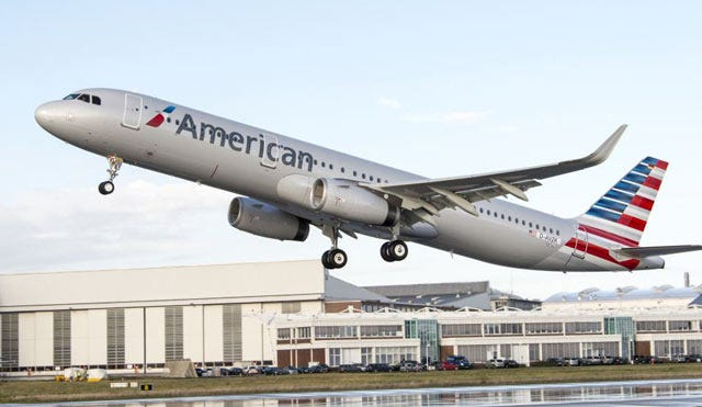 American Airlines Takes Delivery Of New Airbus A321