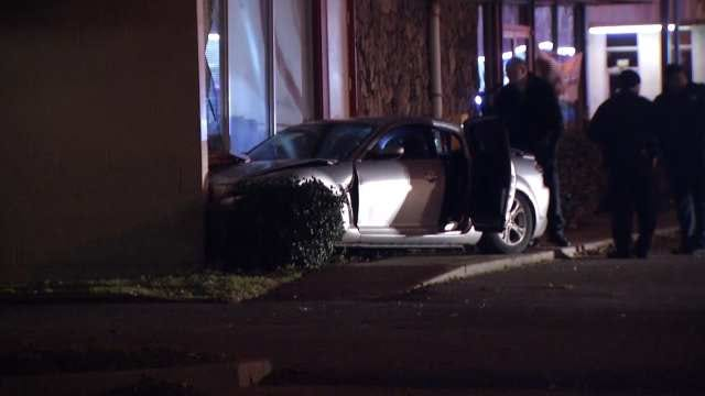 Tulsa Police: Driver Shot In Head, Car Hits Corner Cafe