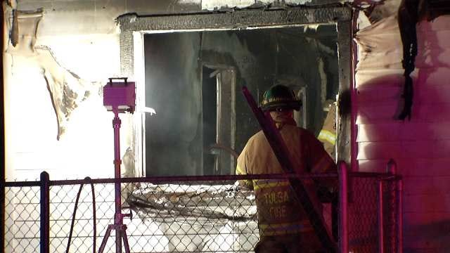 North Tulsa Fire Damages Home