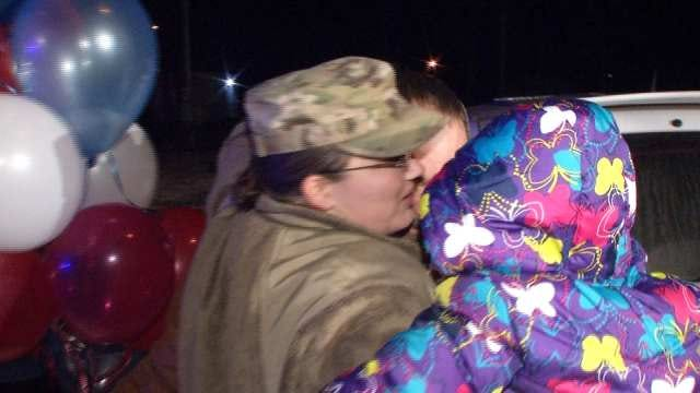 Friends, Family Of Chouteau Soldier Welcome Her Home For The Holidays