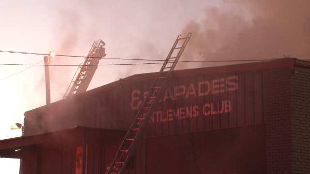 Escapades Gentlemen's Club Badly Damaged In Tulsa Fire