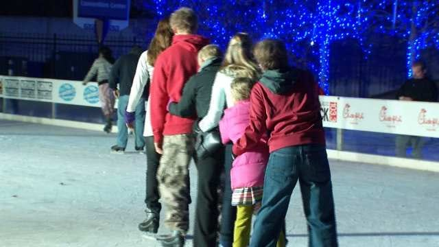Winterfest's Outdoor Ice Rink Opens In Downtown Tulsa