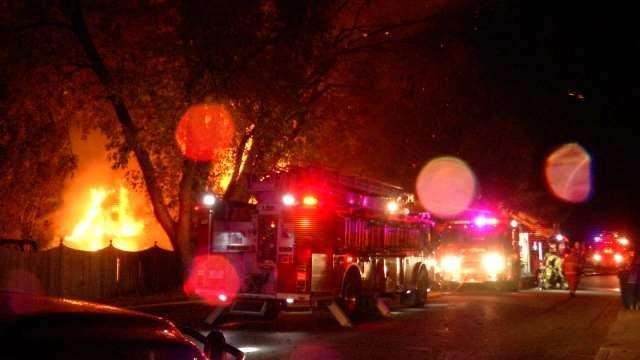 Family Escapes As Fire Destroys South Tulsa Home