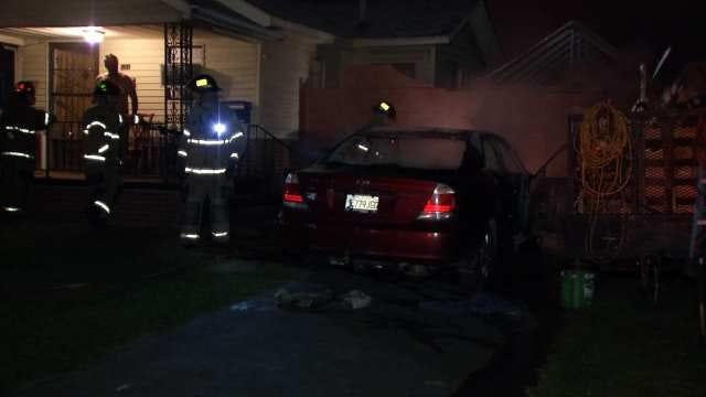 Arson Suspected In Overnight Tulsa Car Fire