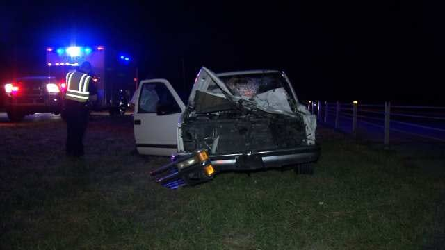 Tulsa Police: Pickup Truck Hits, Kills Cow On Highway