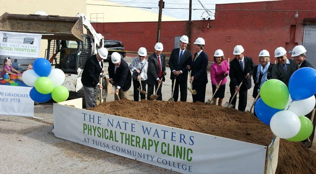 TCC Breaks Ground For Nate Waters Physical Therapy Clinic